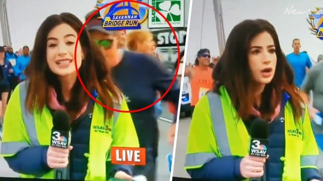 Female reporter assaulted on live TV