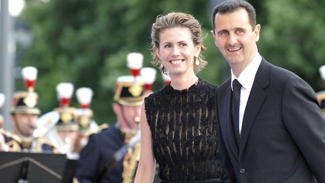 Bashar al-Assad and his wife Asma al-Assad in 2008. Picture: AFP/Gerard Cerles