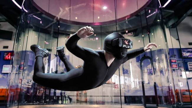 Virtual reality indoor skydiving, $149 at redballoon.com.au