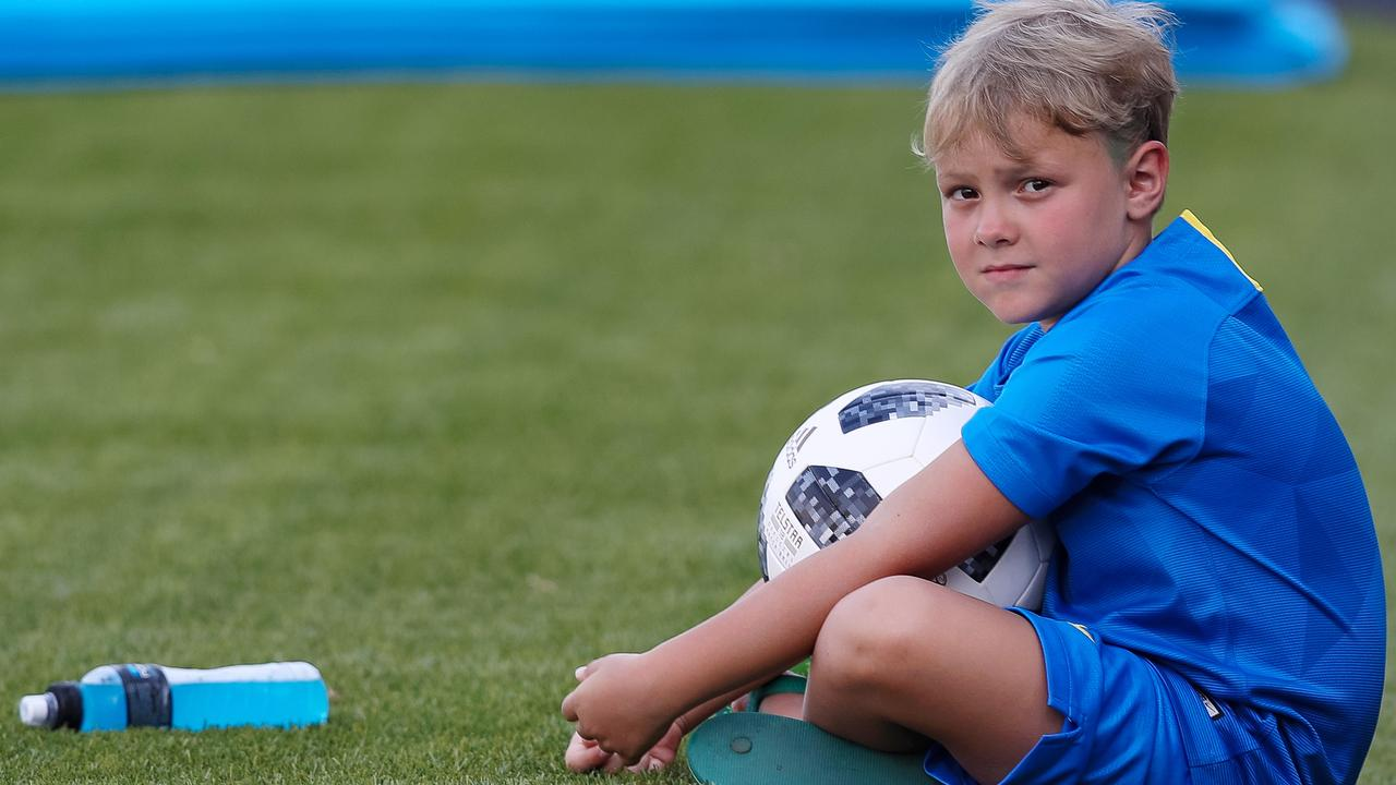 Children under the age of 12 have been banned from heading the football in training