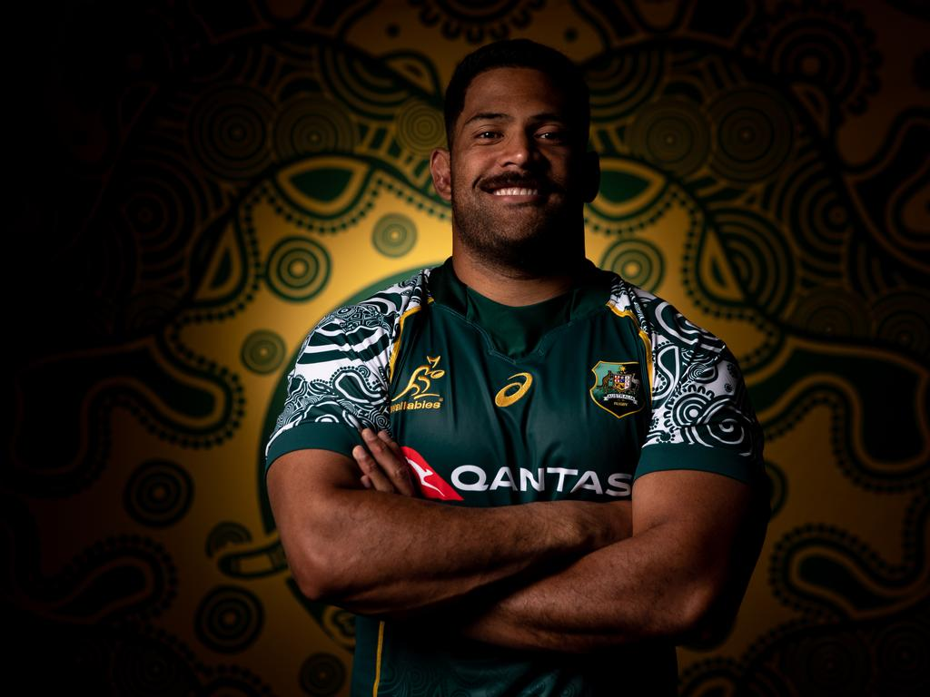 Australian Wallabies 2020 First Nations Jersey Portrait Session