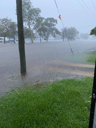 Flash flooding between Home Hill. Photo: Jodie Marsh