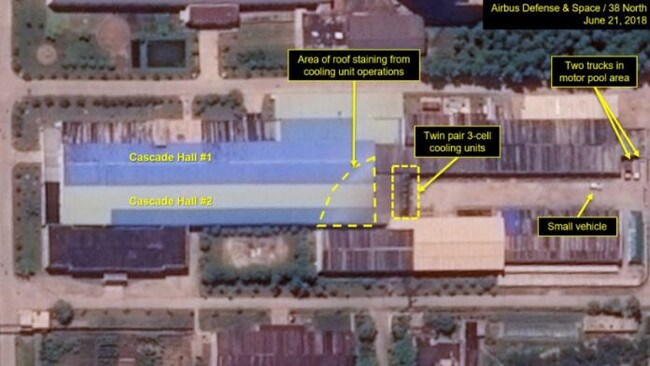 This image shows proof of operations continuing at the Uranium Enrichment Plant.