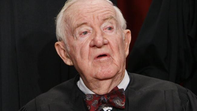Justice John Paul Stevens died last month. Picture: AP