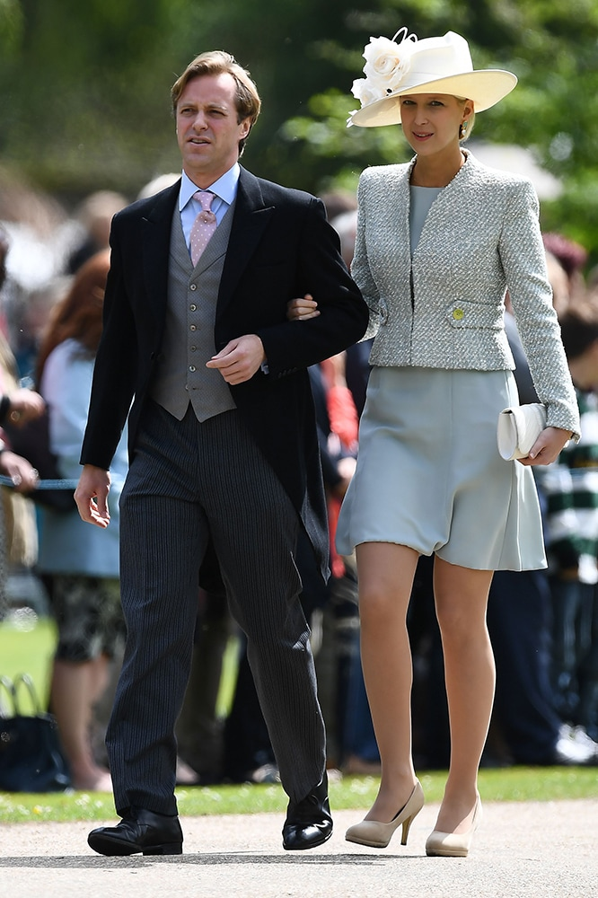 Lady Gabriella Windsor and Thomas Kingston attend Pippa Middleton's wedding in 2017. Image credit: Getty Images