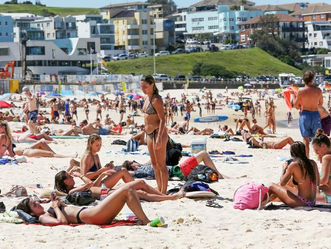 It comes after Bondi Beach was flooded with people last week despite the government issuing social distancing guidelines. Picture: John Fotiadis/AAP