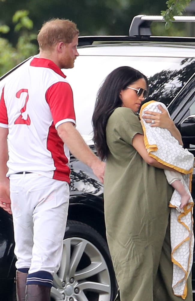 The couple welcomed Archie in May. Picture: Chris Jackson/Getty Images
