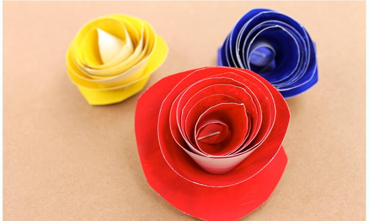 "These pretty paper plate roses are simple enough for little kids and they look almost as good as a real rose. A cute Mother's Day craft for kids and mums.  <a href=""https://youtu.be/Tmh9KvyJ58M "">Make paper plate roses</a>"