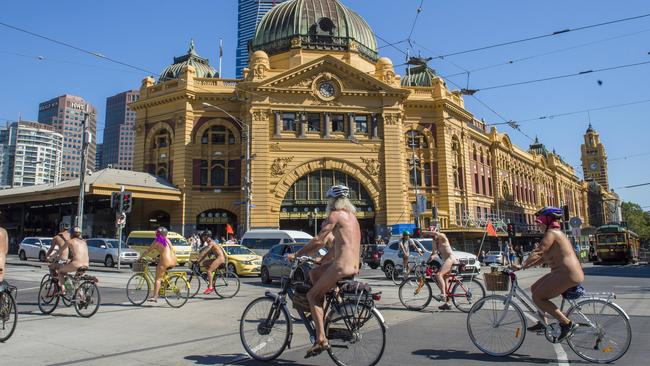 World Naked Bike Ride 2017 Photos Nude Cyclists Take Over Melbourne Streets-7627