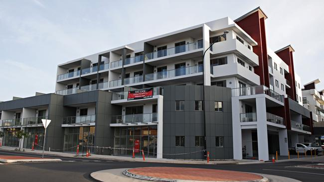 Many of the apartments in this Kellyville Ridge block have yet to be tenanted.