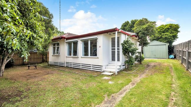 The 1960s beach shack is one kilometres from Half Moon Bay and the general store at 71 Henderson St, Indented Head. It sold for $415,000 in October.