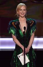 Nicole Kidman speaks onstage during The 23rd Annual Screen Actors Guild Awards at The Shrine Auditorium on January 29, 2017 in Los Angeles, California. Picture: Getty