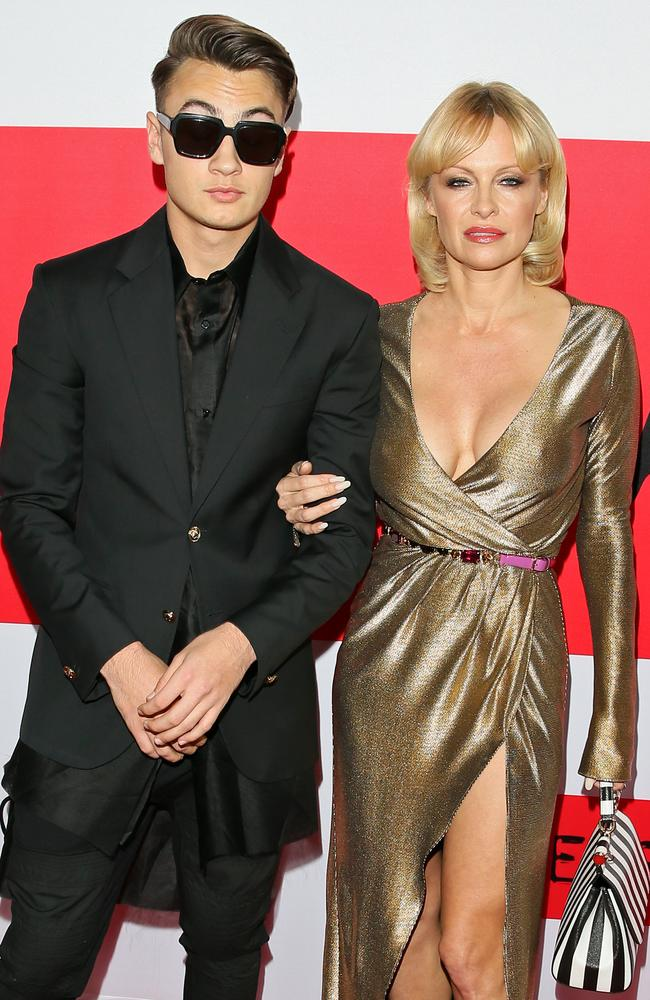 Brandon Thomas Lee and his mother, Pamela Anderson. Picture: JB Lacroix/WireImage