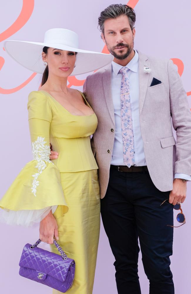 Snezana Wood and Sam Wood returned to the spotlight since becoming parents for the third time in July. Picture: Asanka Ratnayake/Getty Images