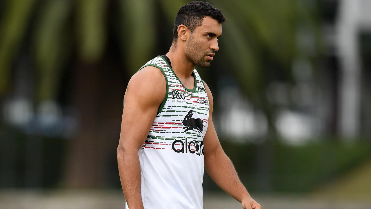 With Grge Inglis unavailable for Saturday's trial, Alex Johnston will get first crack at fullback for the Rabbitohs. (AAP Image/Dan Himbrechts)