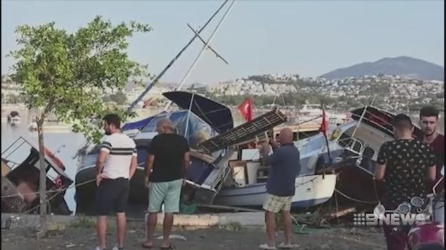 Aussie tourists caught up in powerful earthquake rocking Turkey and Greece