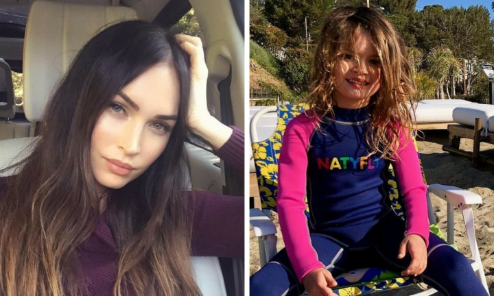 Megan Fox is being mum-shamed over a picture of her kids at the beach