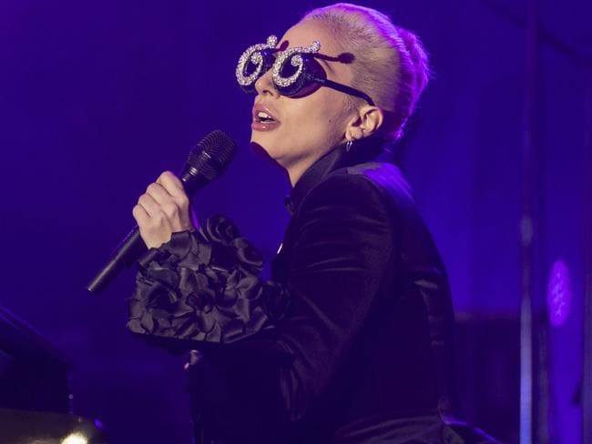 Lady Gaga's AMAs performance was uncharacteristically low-key. Picture: AP