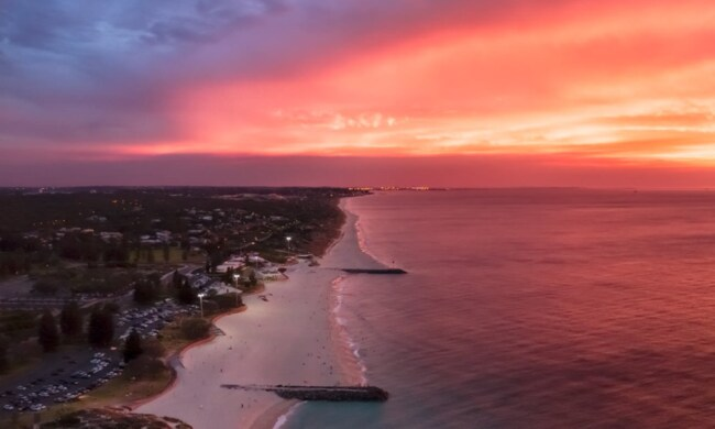 Glendalough is 5km from Perth's CBD and a 10-minute drive to the beach. Picture: (@skyperthwa)