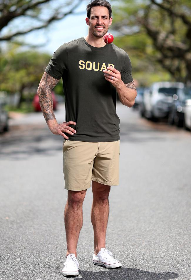 Mitchell Johnson has just been signed on to represent Queensland-based brand Squad Athletica. Picture: Peter Wallis