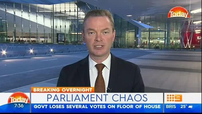 Christopher Pyne admits lack of numbers in parliament was a 'stuff up'