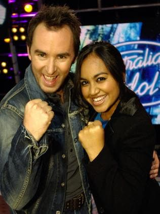 Idol grand finalists Damien Leith and Jessica Mauboy.