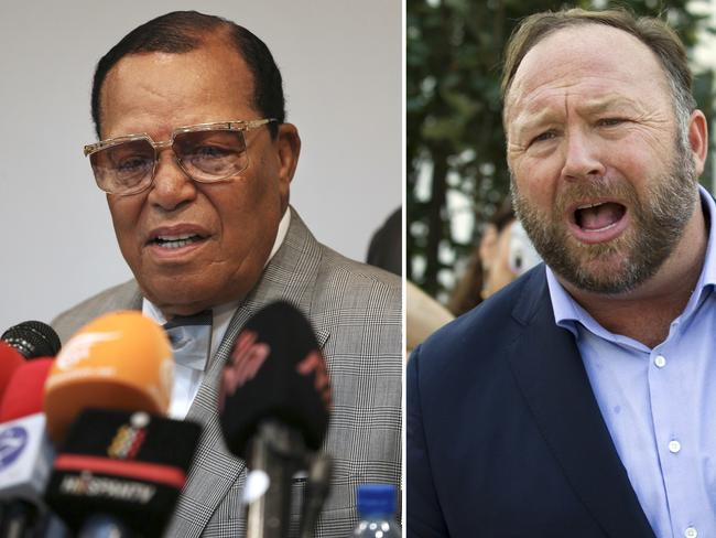Louis Farrakhan, the leader of the Nation of Islam, and conspiracy theorist Alex Jones have also been ditched by the social network giant. Picture: AP