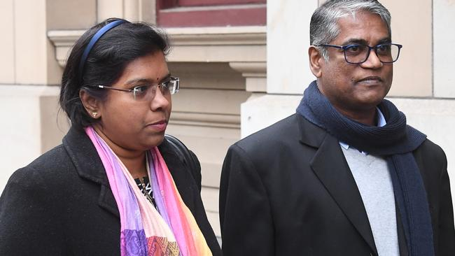 Roger Singaravelu (right) and wife Maha Solomon are 'devastated' by the attack and have ongoing health problems and nightmares. Picture: Julian Smith
