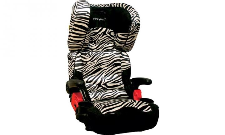 "FIRST YEARS PATHWAY ULTRA FOLDING ADJUSTABLE BOOSTER SEAT: This funky zebra print booster seat boasts a headrest that has the same foam filling as bike helmets, which absorbs any impact to the head should there ever be an accident. Suitable for kids aged from four years.  <a href=""http://www.toysrus.com.au/the-first-years-pathway-ultra-folding-adjustable-booster-seat-zebra_10486288/"">BUY IT HERE</a>"