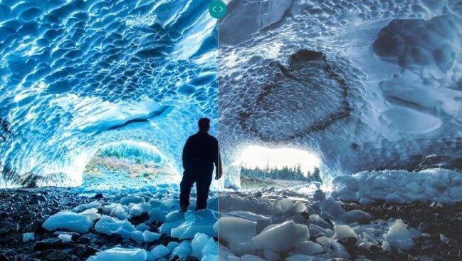 Spot the difference. This comparison shows the detail and range of dark to light from Dolby Vision.