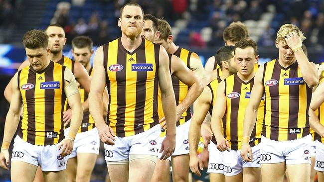 Hawthorn was predicted to decline in 2017, based on Pythagorean wins, and did. (Photo by Scott Barbour/Getty Images)