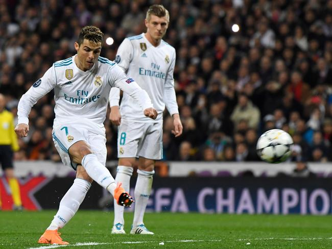 Cristiano Ronaldo scored his 100th UCL goal for Real Madrid with the spot kick.