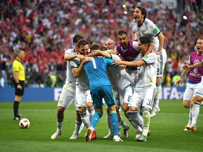 It was euphoria for Russia after downing Spain.