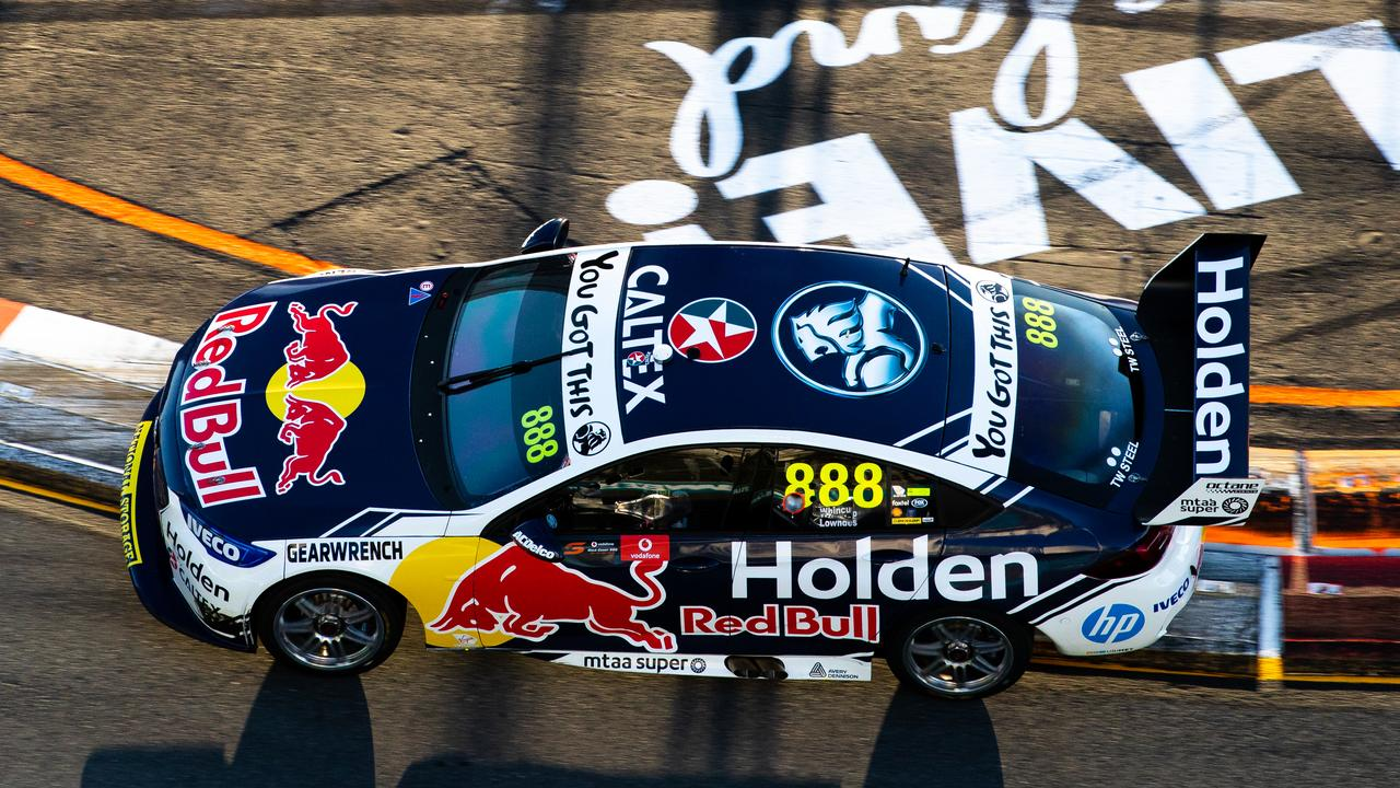Whincup drives during the race. Picture: Daniel Kalisz