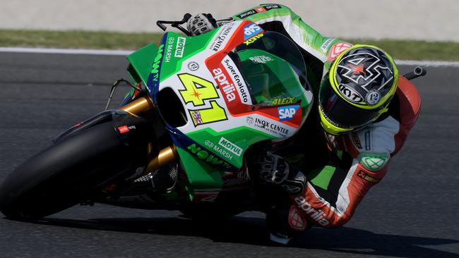 Aleix Espargaro made a hot start at Phillip Island. Picture: AAP Images