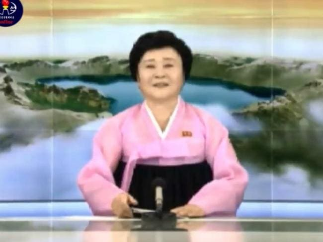"""A special broadcast on North Korean state television announced the hydrogen bomb test was """"a complete success""""."""