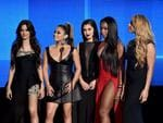 LOS ANGELES, CA - NOVEMBER 22: (L-R) Recording artists Camila Cabello, Ally Brooke, Lauren Jauregui, Normani Hamilton, and Dinah-Jane Hansen of Fifth Harmony speak onstage during the 2015 American Music Awards at Microsoft Theater on November 22, 2015 in Los Angeles, California. Kevin Winter/Getty Images/AFP == FOR NEWSPAPERS, INTERNET, TELCOS & TELEVISION USE ONLY ==