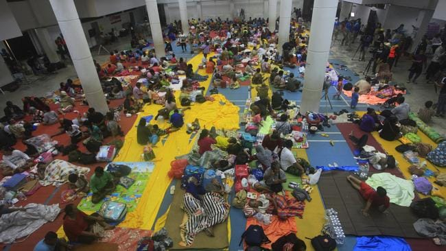 Tens of thousands of people have been evacuated in preparation for Pabuk. Picture: AP