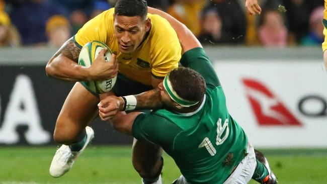Folau often found things in his way. (Photo by Scott Barbour/Getty Images)