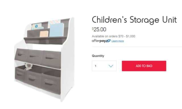 Kmart storage unit