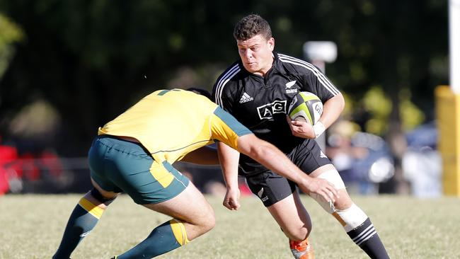 Ricky Riccitelli in action for the New Zealand under-20s against Australia on the Gold Coast.