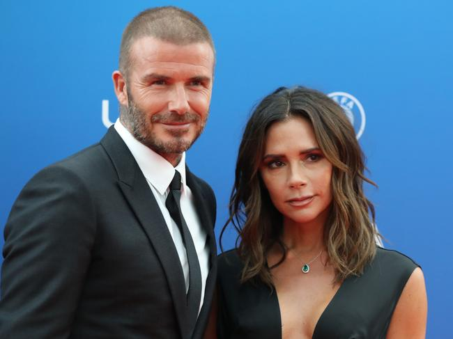 David Beckham will have to rely on lifts from wife, Victoria. Picture: AFP