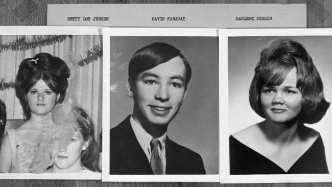San Francisco murder victims; Betty Lou Jensen, David Faraday, and Darlene Ferrin. Image: Getty
