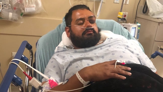 He is being monitored by a cardiologist in hospital. Picture: GoFundMe