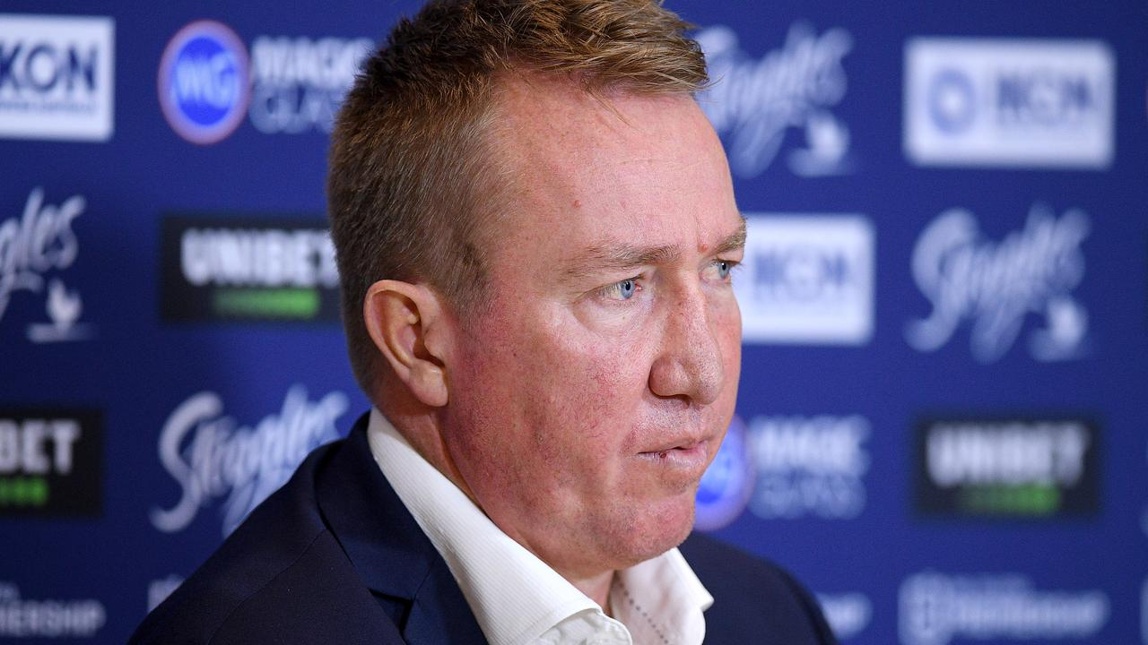 Roosters coach Trent Robinson was frustrated with his side's Round 10 loss to the Raiders.