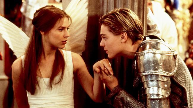 Claire Danes and Leonardo DiCaprio in 1996's Romeo + Juliet. Photo: 20th Century Fox
