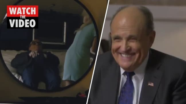 Rudy Giuliani caught in compromising scene in Borat 2