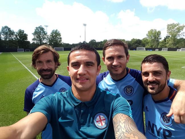 Andrea Pirlo, Tim Cahill, Frank Lampard, David Villa