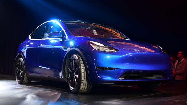 The Tesla Model Y was revealed last Friday in California.