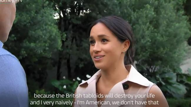 Meghan speaks out during An African Journey. Picture: ITV